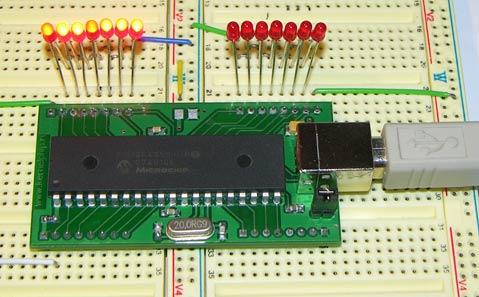 Вот таким вот образом можно за минимальный срок собрать схему управления светодиодами через USB.  Ke-USB24A может...