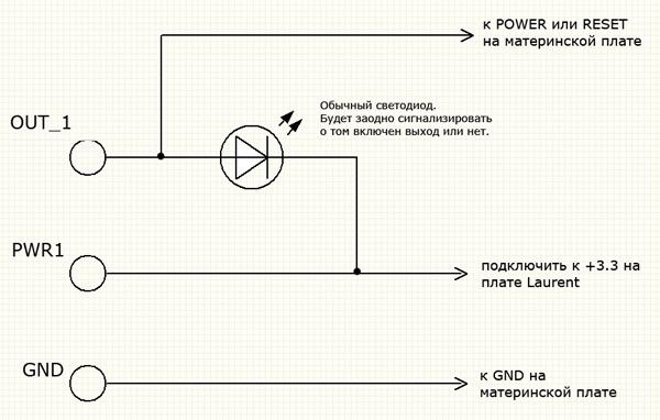 Схема управления кнопкой